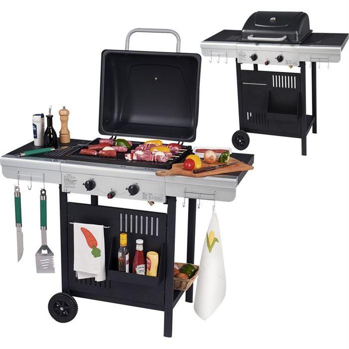 barbecue gaz grill et plancha