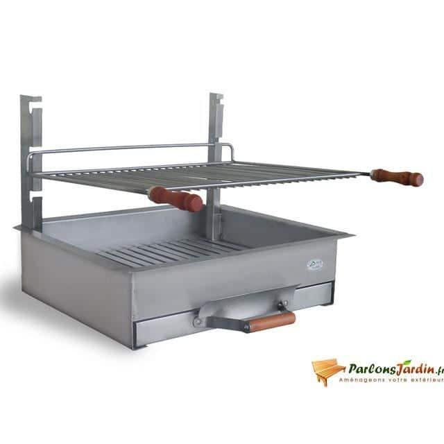barbecue inox charbon de bois