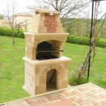Barbecue pierre reconstituée
