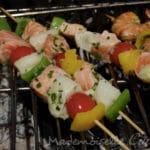 Brochette de poisson barbecue
