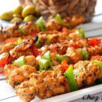 Brochette de poulet barbecue