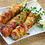 Brochette poulet barbecue