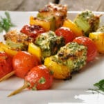 Brochette saumon barbecue