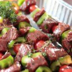 Brochettes de boeuf au barbecue