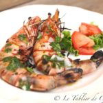 Gambas au barbecue