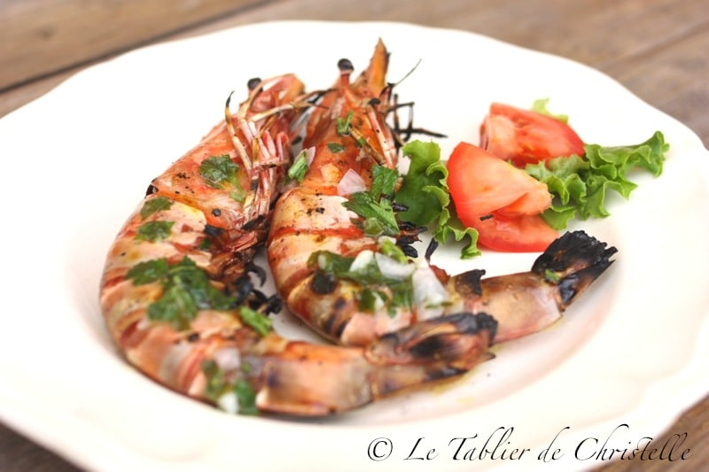 gambas grillées barbecue