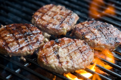 hamburger au barbecue