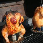Poulet entier au barbecue