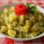Salade avec barbecue