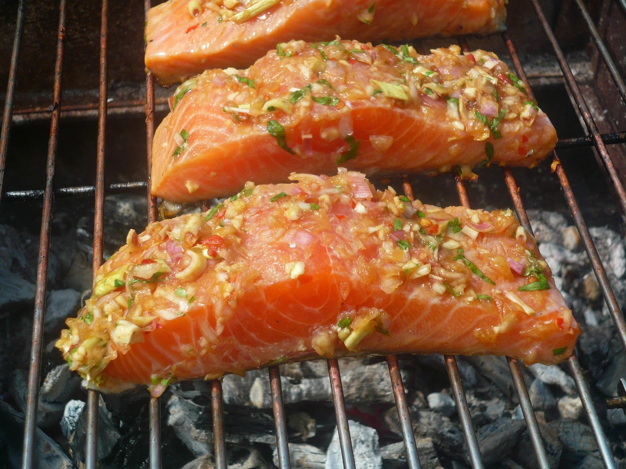 saumon au barbecue