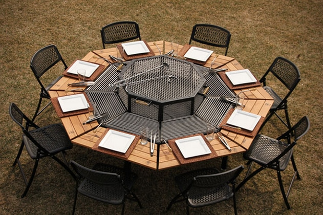 table barbecue integre